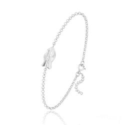 Bracelet Poisson en Argent et Cristal Blanc