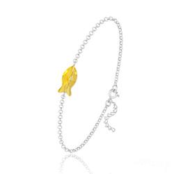 Bracelet Poisson en Argent et Cristal Sun Flower