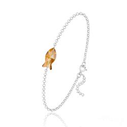 Bracelet Poisson en Argent et Cristal Copper