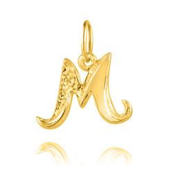 """Pendentif en Vermeil Lettre Prénom """"M"""""""