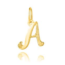 """Pendentif en Vermeil Lettre Prénom """"A"""""""