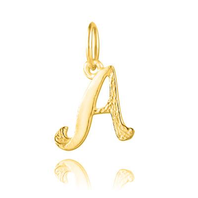 """Pendentif Lettre en Argent Pendentif en Vermeil Lettre Prénom """"A"""""""