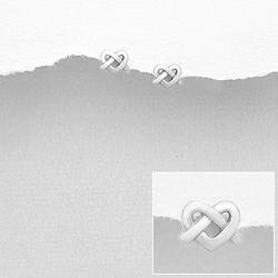 Boucles d'Oreilles en Argent Coeur Celtique