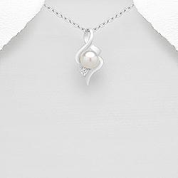 Pendentif Design Perle d'Eau Douce