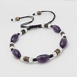 Bracelet en Pierre Naturelle (Améthyste)