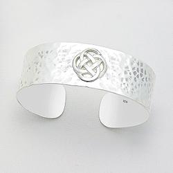 Bracelet Manchette Celtique en Argent
