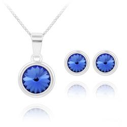 Parure Rivoli en Argent et Cristal Bleu Saphir