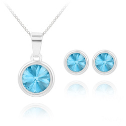 Parure Rivoli en Argent et Cristal Bleu