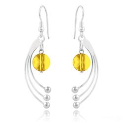 Boucles d'Oreilles Sphera en Argent et Cristal Light Topaz