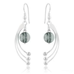 Boucles d'Oreilles Sphera en Argent et Cristal Black Diamond