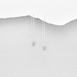 Chaînes d'Oreilles en Argent et Diamant CZ Blanc