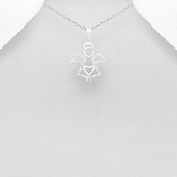 Pendentif Ange en Argent et Diamant CZ