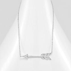 Collier Flèche en Argent et Diamant CZ