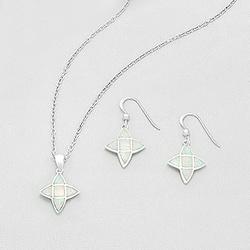 Parure Étoile en Argent et Opale