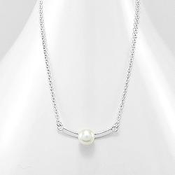 Collier Design en Argent et Perle d'Eau Douce