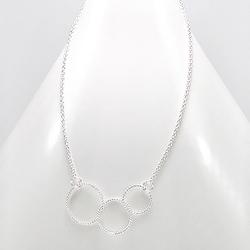 Collier Design Trois Cercles en Argent