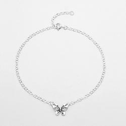 Bracelet de Cheville Papillon en Argent