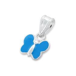 Pendentif pour Enfant Papillon en Argent Bleu
