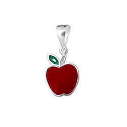 Pendentif Pomme Rouge en Argent