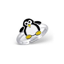 Bague Enfant Pingouin en Argent
