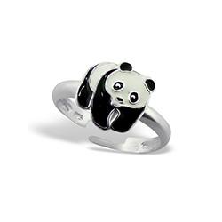 Bague Enfant Panda en Argent