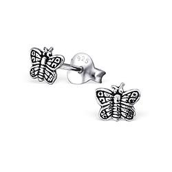 Clous d'Oreilles Petit Papillon en Argent