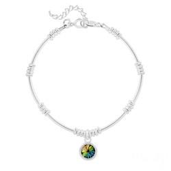 Bracelet Ethnique en Argent et Cristal Rivoli Vitrail Medium
