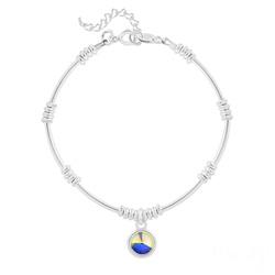 Bracelet Ethnique en Argent et Cristal Rivoli Aurore Bor�ale