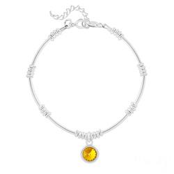 Bracelet Ethnique en Argent et Cristal Rivoli Sun Flower