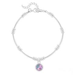 Bracelet Ethnique en Argent et Cristal Rivoli Vitrail Light