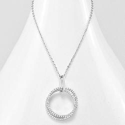 Collier Cercle 9mm en Argent et Diamants CZ