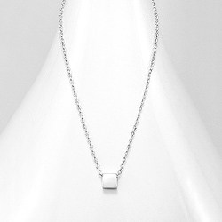 Collier Carré Design en Argent