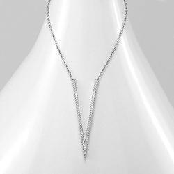 Collier V en Argent et Diamant CZ