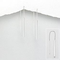 Boucles Chaînes d'Oreilles Design en Argent