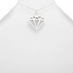 Pendentif Diamond Shape en Argent