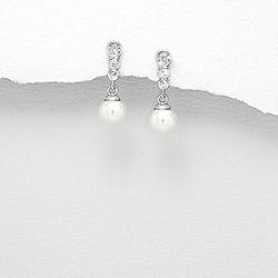 Boucles d'Oreilles en Argent Perle d'Eau Douce 7mm