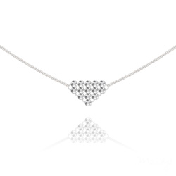 Collier Diamond Mesh Chaîne Double en Argent et Cristal Light Chrome