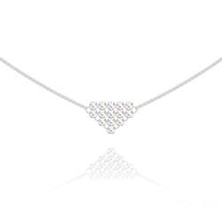 Collier Diamond Mesh Chaîne Double en Argent et Cristal Aurore Boréale