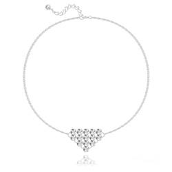 Bracelet Diamond Mesh Chaîne Double en Argent et Cristal Light Chrome