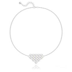 Bracelet Diamond Mesh Chaîne Double en Argent et Cristal Aurore Boréale