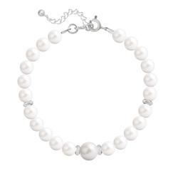 Bracelet en Cristal et Argent Bracelet en Argent Perle Cristal Nacré 6mm/8mm Ivory