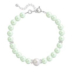 Bracelet en Argent Perle Cristal Nacré 6mm/8mm Pastel Green