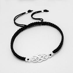 Bracelet Celtique en Argent - Noir
