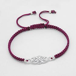 Bracelet Celtique en Argent - Bordeaux