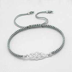 Bracelet Celtique en Argent - Gris