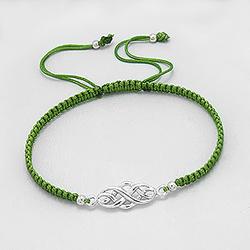 Bracelet Celtique en Argent - Vert