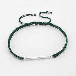 Bracelet Design en Argent - Vert Forêt