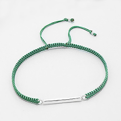 Bracelet Design en Argent - Vert
