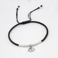 Bracelet Oeil et Perle d'Argent