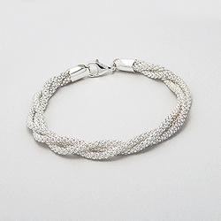 Bracelet 3 Rangs Souple en Argent